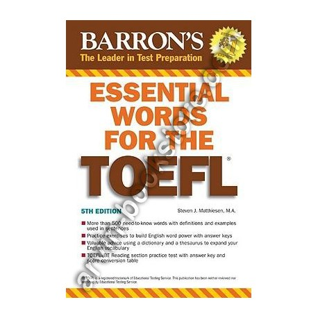 Essential Words for The TOEFL Fifth Edition